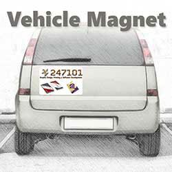 247101 - Graphic Design, Printing & Software Development - Vehicle Magnet