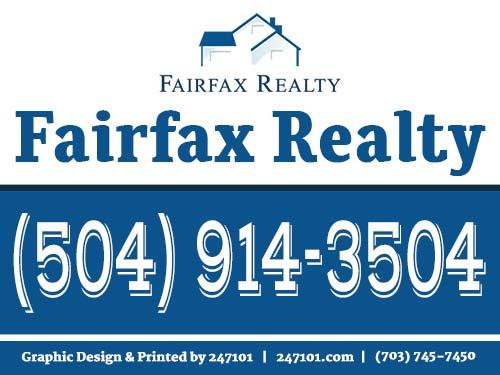 Yard Sign for Real Estate Realtors