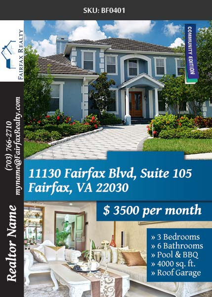 Fairfax Realty - 247101 - Marketing Material & Promotional Material for all Realtors - Real Estate Flyers