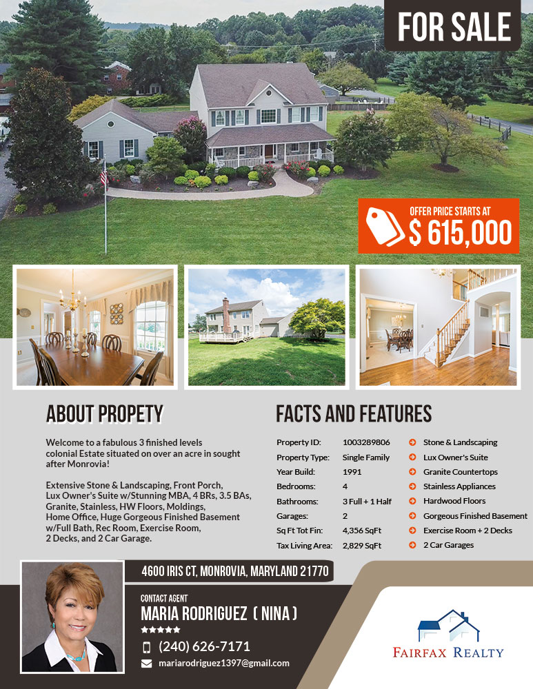 247101.com - Fairfax Realty Real Estate Flyers