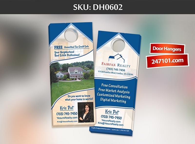 Samples of Door Hanger - Fairfax Realty