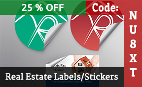 Real Estate Labels And Stickers