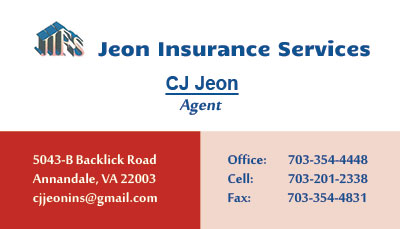 247101.com - Jeon Insurance Services - Business Cards