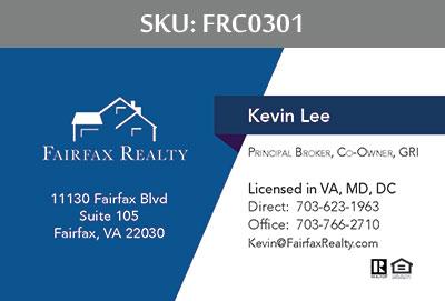 Fairfax Realty Business Cards - FRC0301