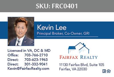 Fairfax Realty Business Cards - FRC0401