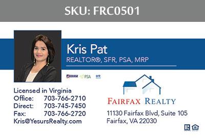 Fairfax Realty Business Cards - FRC0501