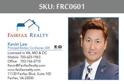 Fairfax Realty Business Cards - FRC0601