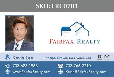 Fairfax Realty Business Cards - FRC0701
