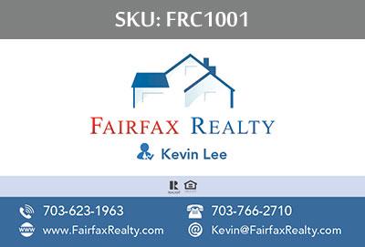 Fairfax Realty Business Cards - FRC1001
