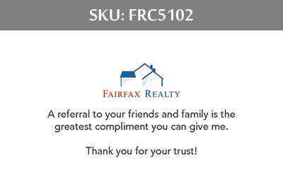Fairfax Realty Business Cards - FRC5102