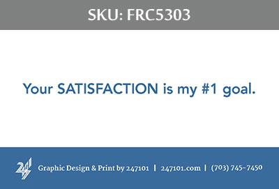 Fairfax Realty Business Cards - FRC5303