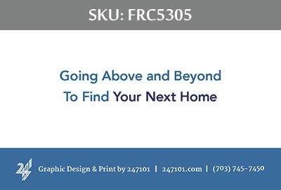 Fairfax Realty Business Cards - FRC5305