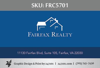 Fairfax Realty Business Cards - FRC5701