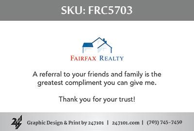 Fairfax Realty Business Cards - FRC5703