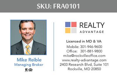 Fairfax Realty Advantage Business Cards - FRA0101