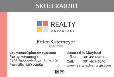 Fairfax Realty Advantage Business Cards - FRA0201