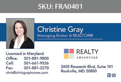 Fairfax Realty Advantage Business Cards - FRA0401