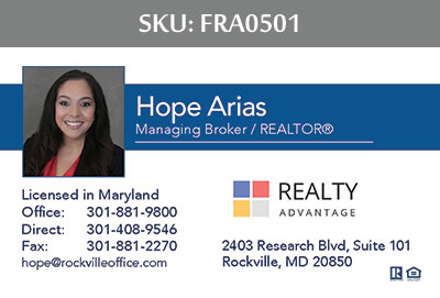 Fairfax Realty Advantage Business Cards - FRA0501