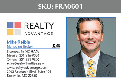 Fairfax Realty Advantage Business Cards - FRA0601