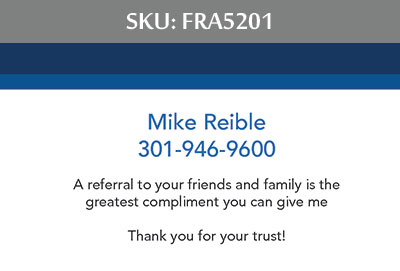 Fairfax Realty Advantage Business Cards - FRA5201