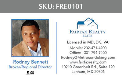 Fairfax Realty Elite Business Cards - FRE0101