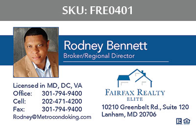Fairfax Realty Elite Business Cards - FRE0401