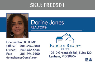 Fairfax Realty Elite Business Cards - FRE0501