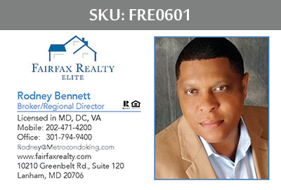 Fairfax Realty Elite Business Cards - FRE0601