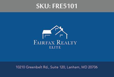 Fairfax Realty Elite Business Cards - FRE5101