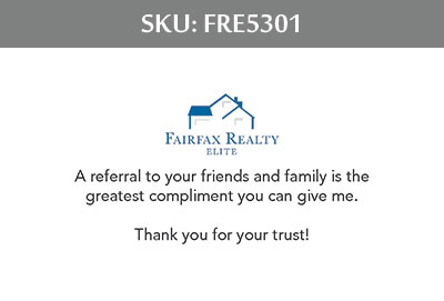 Fairfax Realty Elite Business Cards - FRE5301
