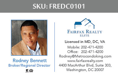 Fairfax Realty Elite DC Business Cards - FREDC0101