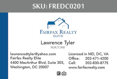 Fairfax Realty Elite DC Business Cards - FREDC0201