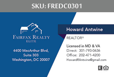 Fairfax Realty Elite DC Business Cards - FREDC0301