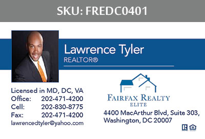 Fairfax Realty Elite DC Business Cards - FREDC0401