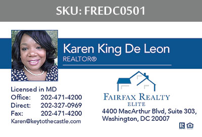 Fairfax Realty Elite DC Business Cards - FREDC0501