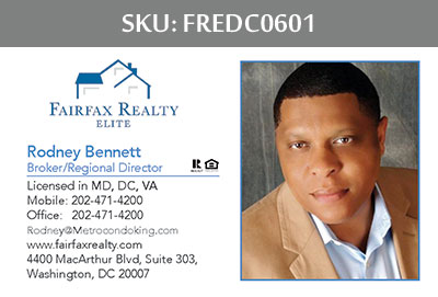 Fairfax Realty Elite DC Business Cards - FREDC0601