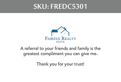 Fairfax Realty Elite DC Business Cards - FREDC5301