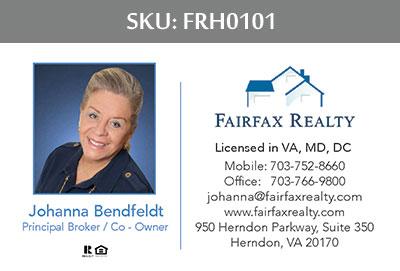 Fairfax Realty Tysons Business Cards - FRH0101