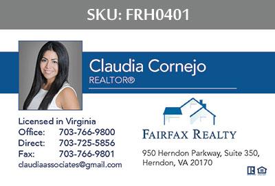 Fairfax Realty Tysons Business Cards - FRH0401