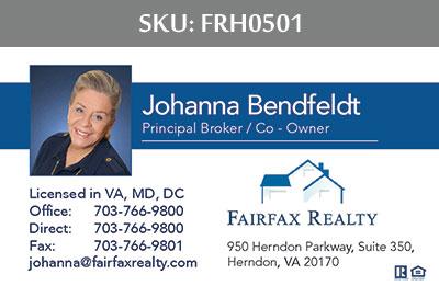Fairfax Realty Tysons Business Cards - FRH0501