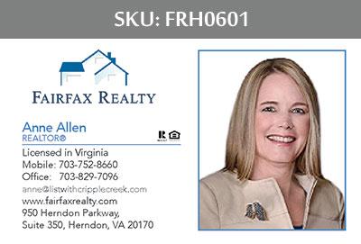 Fairfax Realty Tysons Business Cards - FRH0601