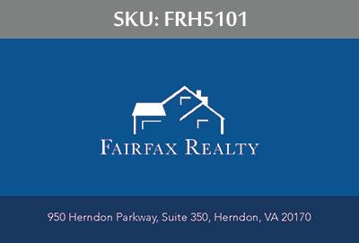 Fairfax Realty Tysons Business Cards - FRH5101