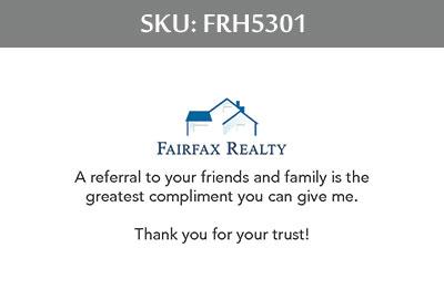 Fairfax Realty Tysons Business Cards - FRH5301
