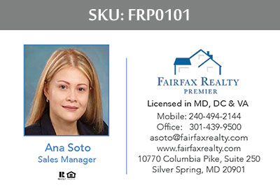 Fairfax Realty Premier Business Cards - FRP0101