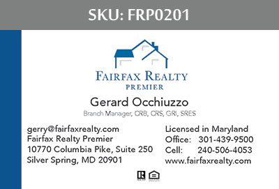 Fairfax Realty Premier Business Cards - FRP0201