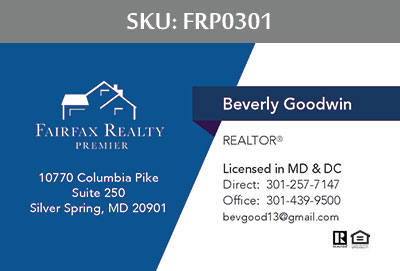 Fairfax Realty Premier Business Cards - FRP0301