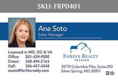 Fairfax Realty Premier Business Cards - FRP0401