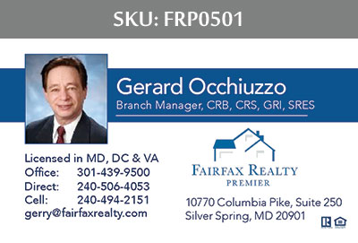 Fairfax Realty Premier Business Cards - FRP0501