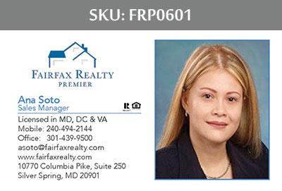 Fairfax Realty Premier Business Cards - FRP0601
