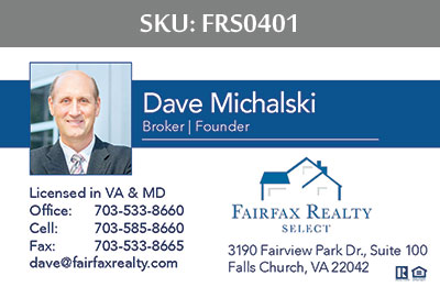 Fairfax Realty Select Business Cards - FRS0401